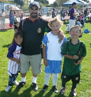 Recreational soccer family